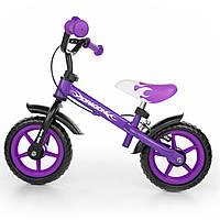 Беговел Milly Mally Dragon фиолетовый с ручным тормозом - Dragon_002t