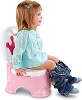 Горшок музыкальный Fisher Price 3в1 Princess Stepstool Potty розовый BGP35 - W4106