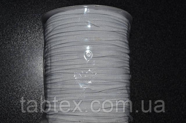 Трикотажна гумка 3мм. біла (200м) китай