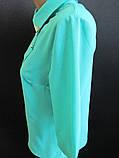 Однотонные молодежные блузы с воротником., фото 3