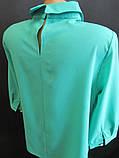 Однотонные молодежные блузы с воротником., фото 4
