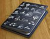 Стильная обложка для паспорта с эко-кожи + блокнот BlankNote BN-OP-KZ-25 черный