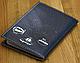 Стильная обложка для паспорта с эко-кожи + блокнот BlankNote BN-OP-KZ-25 черный, фото 2