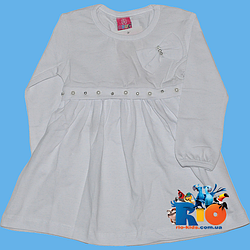 """Платье """"Бусинка"""" , трикотажное (интерлок) , для девочек (рост 110-116-128-140 см)"""