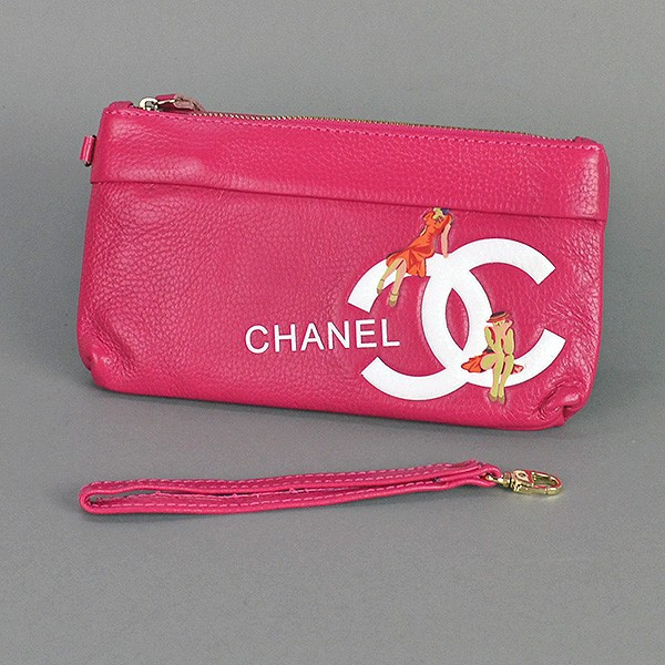 d32ce3d1c2dd Клатч - Кошелек Женский Натуральная Кожа Фуксия Chanel 1883 — в Категории