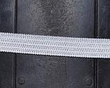 Трикотажна гумка 7мм. біла (50м) китай, фото 2