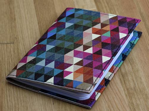 Разноцветная обложка для паспорта с эко-кожи + блокнот BlankNote BN-OP-KZ-26