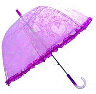 Зонт  Цветы Прозрачный полуавтомат