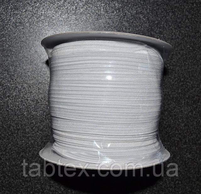 Трикотажна гумка 7мм. біла (50м) китай