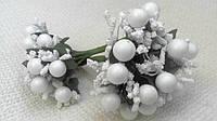 Сложные тычинки с бусинкой белые