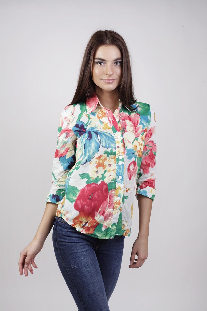 Блуза-рубашка в цветок СС-5114-40