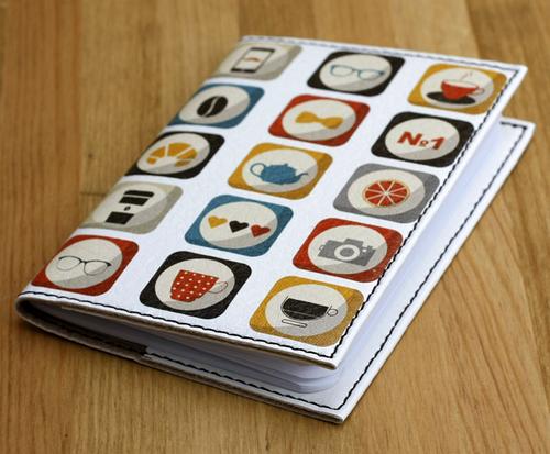 Стильная обложка для паспорта с эко-кожи + блокнот BlankNote BN-OP-KZ-29 белый