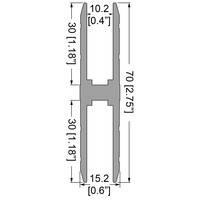 """Профіль 0640. Для """"зрощування"""" панелей, """"Н"""" образний. Для панелей 10,2 мм"""