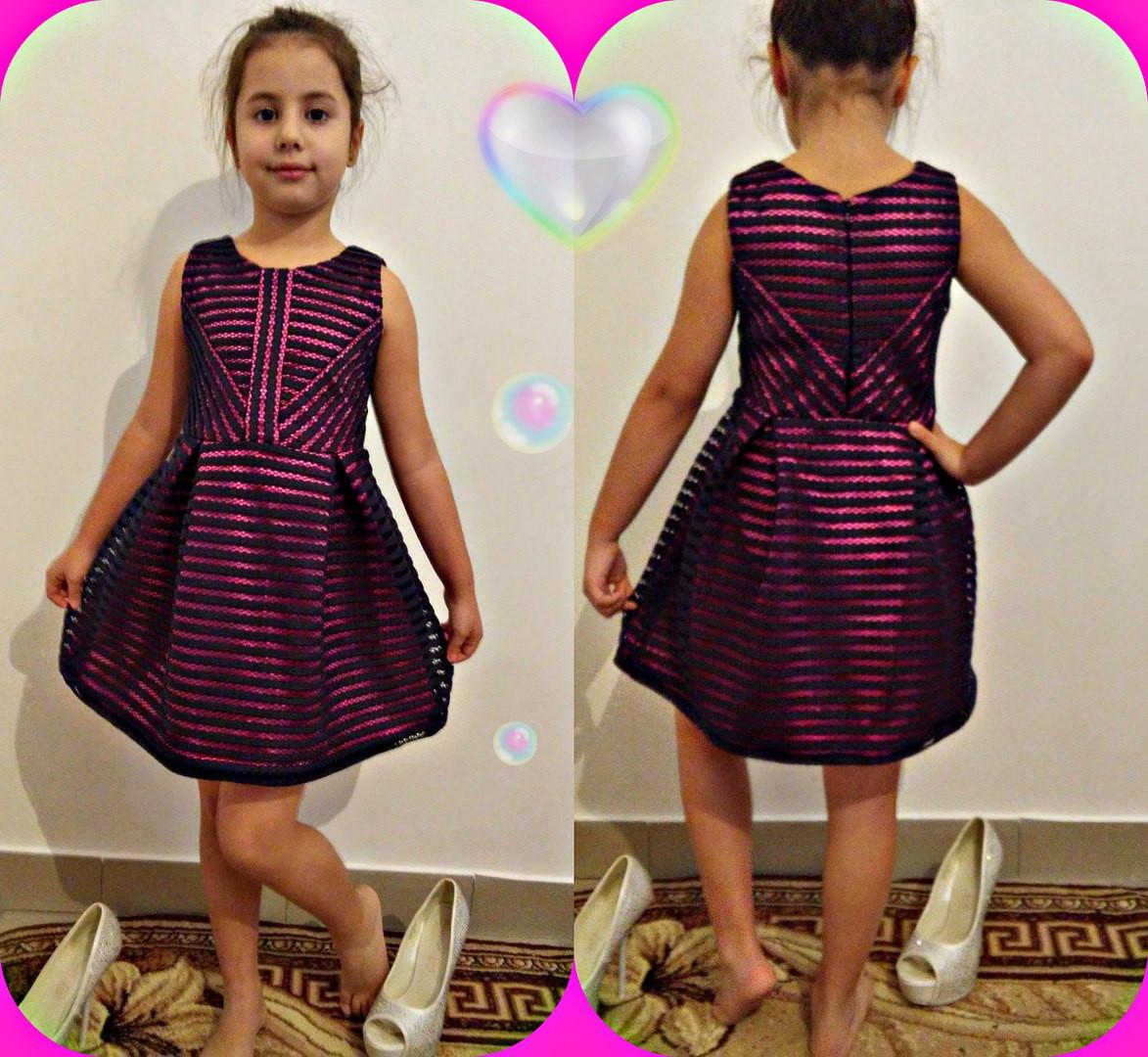 Нарядное детское платье из неопрена