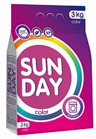 Стиральный порошок SUNDAY 3кг для цветного автомат БФ