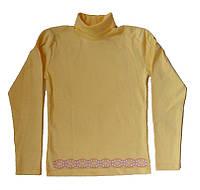 Гольф для девочки желтого цвета, рост 134 см