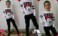 """Детский спортивный костюм для девочки """"Minnie Mickey"""" с принтом и карманами (3 цвета)"""