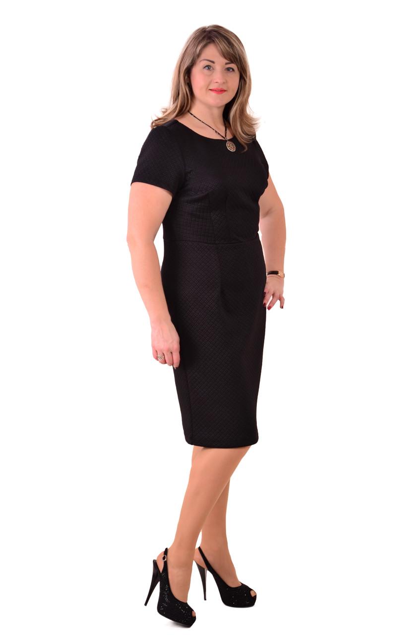 Платье черное ,трикотажное , Пл 180 .