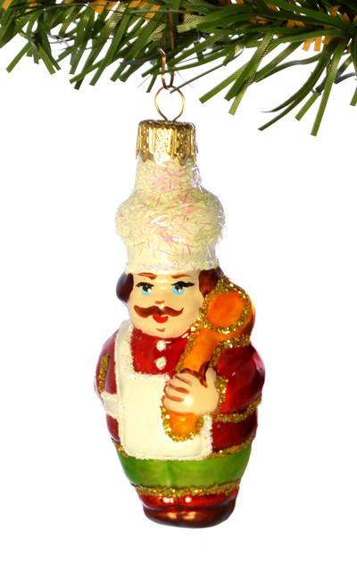 Елочная игрушка  «ПОВАР» Стекло