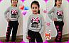 """Яркий детский спортивный костюм для девочки """"RIBBON MINNIE"""" с принтом и карманами (3 цвета), фото 2"""