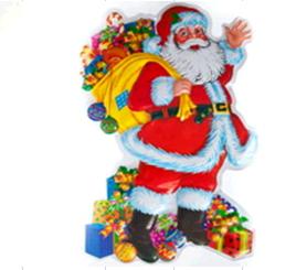 """Плакат """"Дед Мороз с подарками"""""""