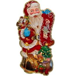 """Плакат """"Дед Мороз с ёлкой и подарками"""" 43*75 см."""