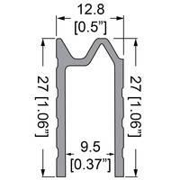 """Профиль 0581. Гибрид или """"замочный"""". Для панелей 9,5 мм."""