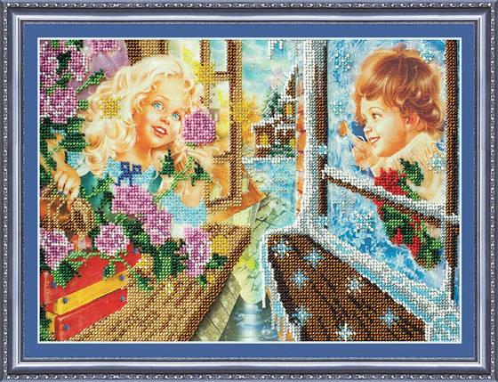 """Набор для вышивания бисером """"Кай и Герда"""", фото 2"""