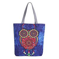 Вместительная текстильная сумка для женщин с оригинальным рисунком. Высокое качество. Доступная цена. Код:КД86