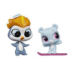 Набор Littlest Pet Shop зверюшки Eliza Blue иRad Slopington. Оригинал Hasbro A9396/A7313