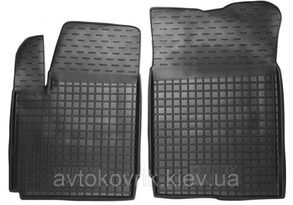 Полиуретановые передние коврики в салон Chery А3 2008- (AVTO-GUMM)
