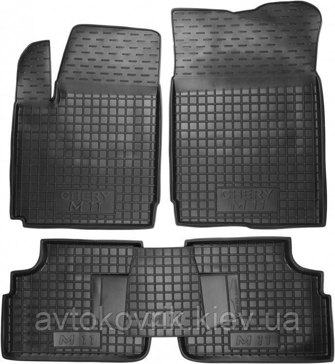 Полиуретановые коврики в салон Chery А3 2008- (AVTO-GUMM)