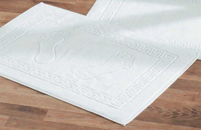 Полотенце махровое  для ног Lotus 600 г/м2 белое 50*70