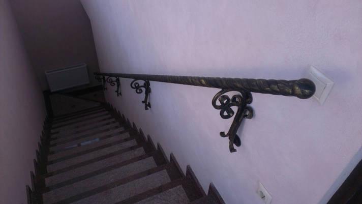 Поручень пристенный кованый, фото 2