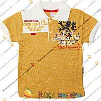 Детские футболки поло с коротким рукавом для мальчиков от 4 до 8 лет (4158-3)