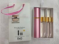 Подарочный парфюмерный набор с феромонами женский D&G Rose The One (Дольче Габбана Роуз Зе Ван) 3x15 мл