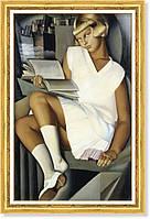 Репродукция картины Т.де Лемпицки «Кизетта в розовом» 50 х 80 см 1926 г.