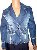 Куртка - пиджак джинсовая размер L
