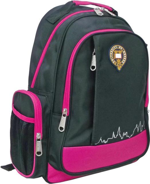 """Рюкзак подростковый Х102 """"Oxford"""" черно-розовый, 41*29*13см"""