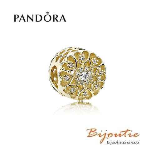 Pandora шарм ЗОЛОТЫЕ СЕРДЦА  750841CZ золото 585 проба Пандора оригинал - BIJOUTIE (БИЖУТЬЕ) в Киеве