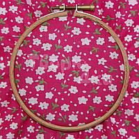 Ткань для пэчворка, кукл тильда красная в цветочек