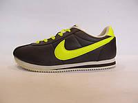 Кроссовки женские Nike Cortez   коричневые с желтым (найк) р.41