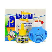 Комплект от комаров MOSQUITALL фумигатор + жидкость 45 ночей Детская нежная защита без запаха, ОРИГИНАЛ 100%