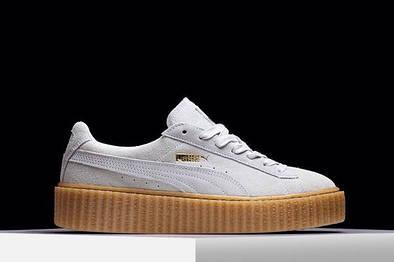 Женские кроссовки Rihanna x Puma Suede Creeper White