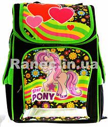 Портфель ортопедический Пони-Фиолетовый 7788