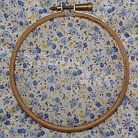 Ткань для пэчворка, кукл тильда в голубой цветочек