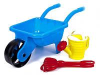 Тачка садовая с лейкой, лопаткой и граблями 01-124 Kinderway