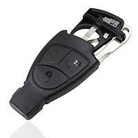 Корпус смарт ключа Mercedes рыбка 3 кнопки с держателем батарейки