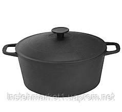 Кастрюля БИОЛ 0805 (5 л) чугунная с литой крышкой-сковородой