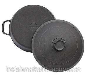 Каструля БІОЛ 0805 (5 л) чавунна з литою кришкою-сковородою, фото 2